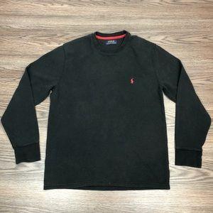 Polo Ralph Lauren Black Waffle Henley T-Shirt M